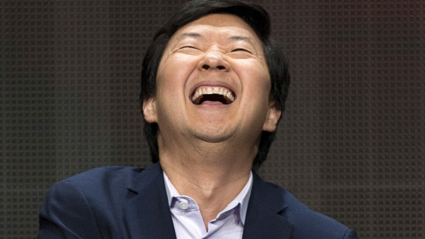 "Cast member Ken Jeong laughs at a panel for the Disney-ABC television series ""Dr. Ken"" during the Television Critics Association Cable Summer Press Tour in Beverly Hills, California August 4, 2015. REUTERS/Mario Anzuoni - RTX1N2IG"