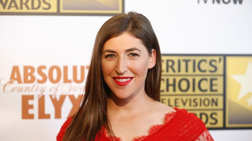 June 19, 2014. Mayim Bialik poses at the 4th annual Critics Choice Television Awards in Beverly Hills, California.