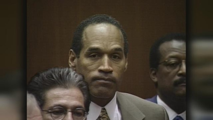 O.J. Simpson on trial in 1995.