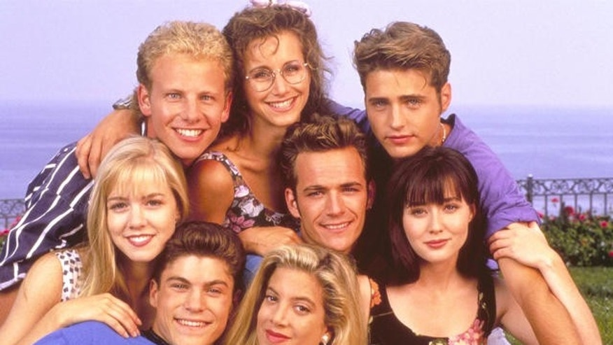 "The original cast of ""Beverly Hills 90210."""