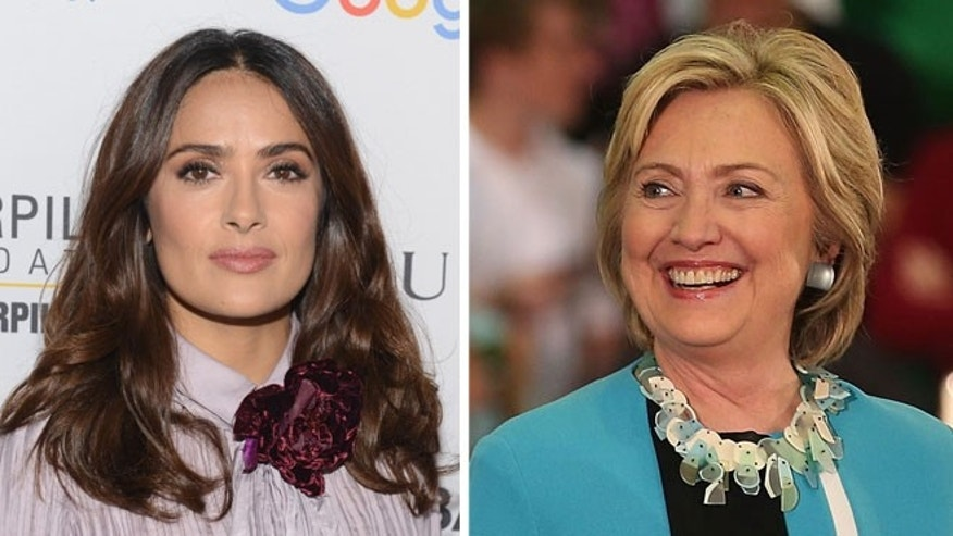 Salma Hayek (left) and Hillary Clinton. (Photos: Getty Images)