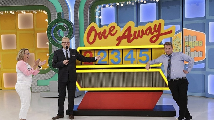 "October 2015. James Corden on ""The Price Is Right."""