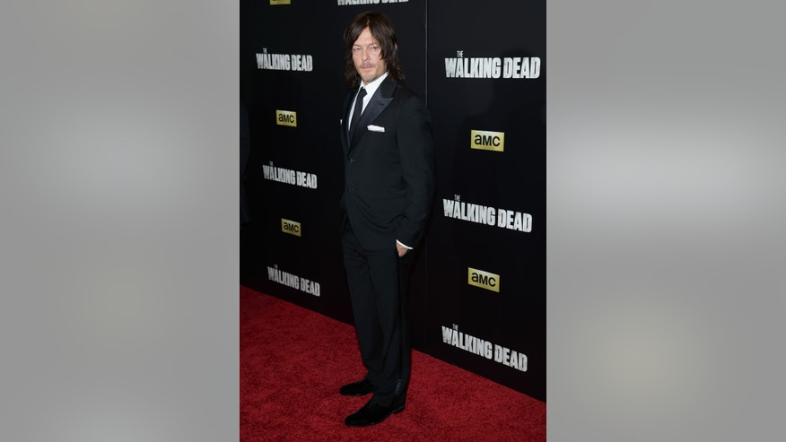 "October 9, 2015. Norman Reedus attends AMC's ""The Walking Dead"" season six premiere fan event at Madison Square Garden in New York."