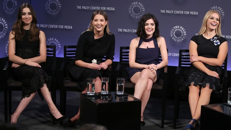 "PaleyFest NY presents ""Pretty Little Liars."" The panel was attended by Lucy Hale, Ashley Benson, Troian Bellisario, Sasha Pieterse, I. Marlene King, Oliver Goldstick, Joe Dougherty, and moderated by Andy Swift, Senior Entertainment Editor of TVLine.com."