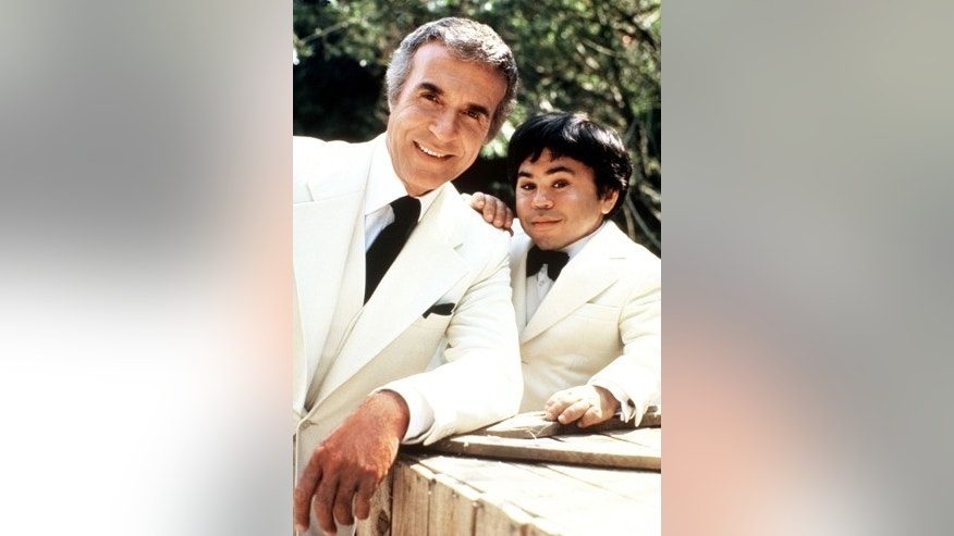 "Ricardo Montalban and Herve Villechaize as Mr. Roarke and Tattoo (l-r) from tv series ""Fantasy Island."""
