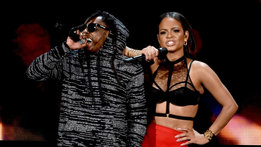 Christina Milian and Lil Wayne at the American Music Awards on November 23, 2014 in Los Angeles.