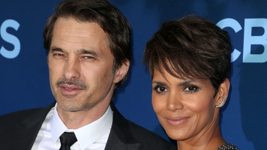 Halle Berry and her soon to be ex husband Oliver Martinez on June 16, 2014 in Los Angeles, California.