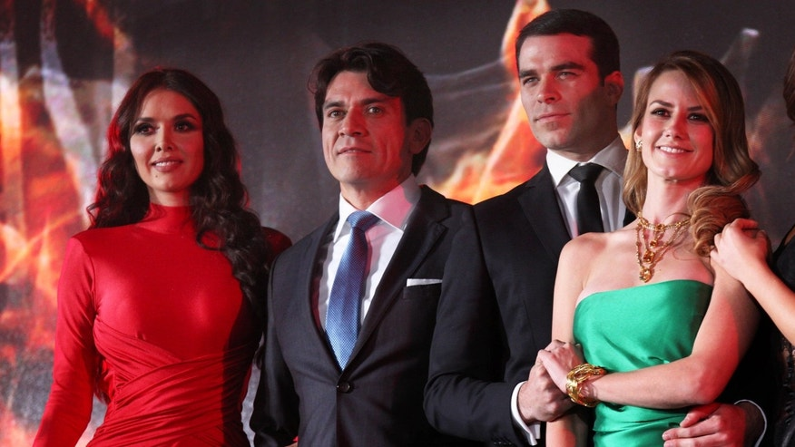 "Cast members of ""Pasion y Poder,"" the latest soap opera from the Mexican TV network Televisa."