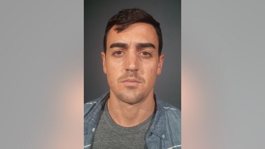 Oct. 29, 2015 photo provided by the New York State Police, Michael Lohan is shown. Authorities say that Lohan, brother of actress Lindsay Lohan, was charged with criminal possession of a forged instrument and criminal impersonation for using a forged parking permit to avoid paying a New York City parking meter.