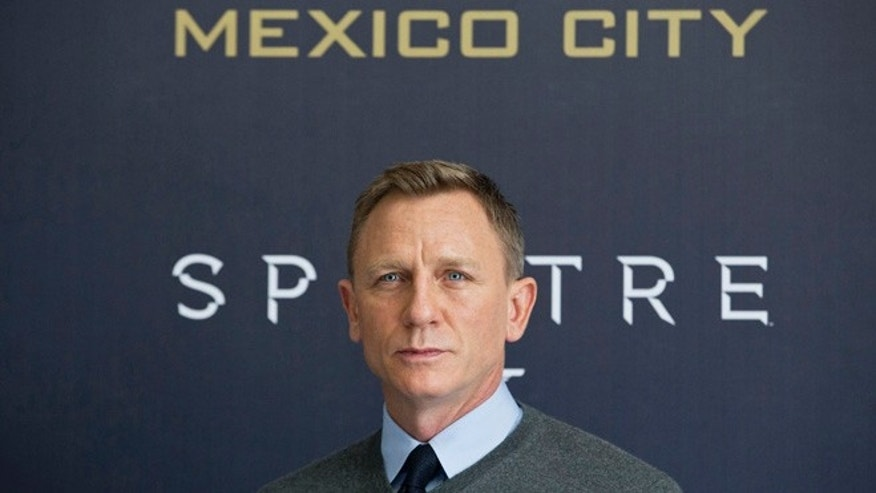 Daniel Craig during the photo call for the latest Bond film, Spectre, at Regis hotel in Mexico City, Sunday, Nov. 1, 2015.