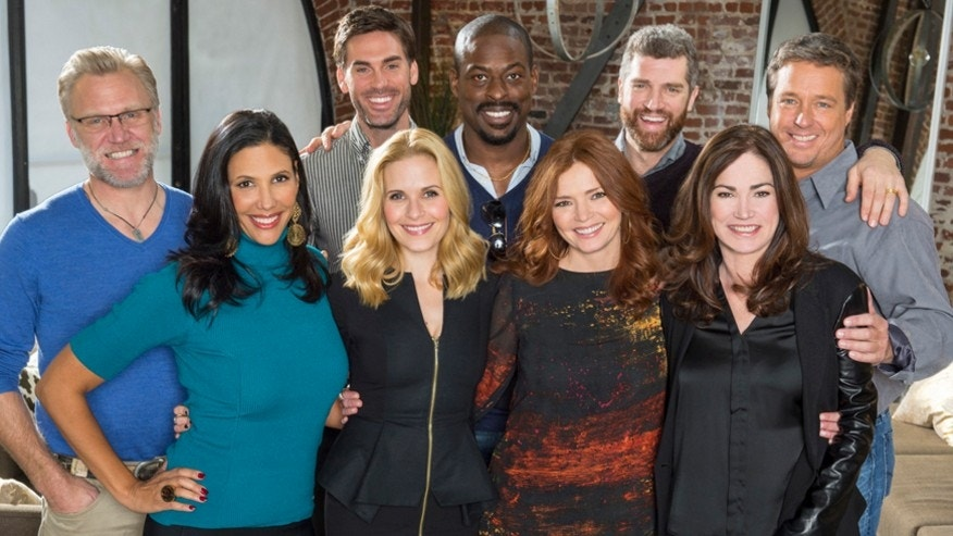 "(Front to Back) ""Army Wives"" cast: Wendy Davis, Sally Pressman, Brigid Brannagh, Kim Delaney, Terry Serpico, Drew Fuller, Sterling K. Brown, Jeremy Davidson and Brian McNamara."