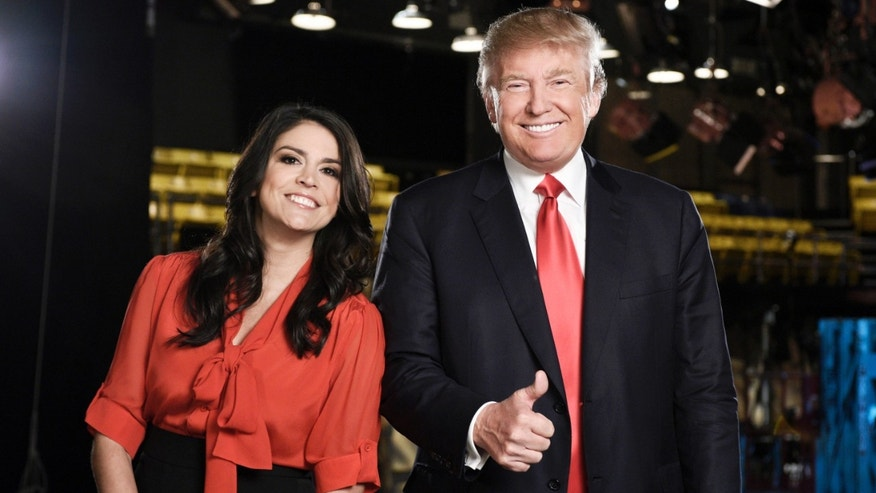 """Saturday Night Live"" cast member Cecily Strong, left, and Republican presidential candidate Donald Trump in New York."