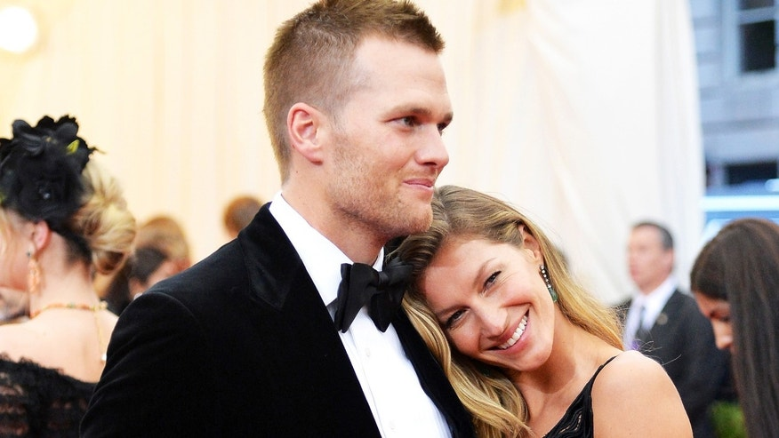 Tom Brady and Gisele Bundchen at the Metropolitan Museum of Art on May 5, 2014 in New York City.