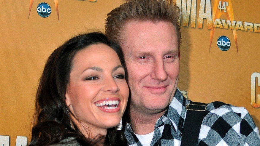 November 10, 2010. Singer/songwriters Joey + Rory, nominees for Vocal Duo of the Year, arrive at the 44th annual Country Music Association Awards in Nashville, Tennessee.
