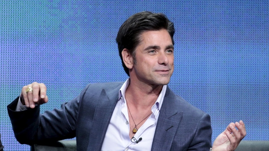 "August 6, 2015. John Stamos participates in the FOX ""Grandfathered"" panel at the Television Critics Association (TCA) Summer 2015 Press Tour in Beverly Hills, California."