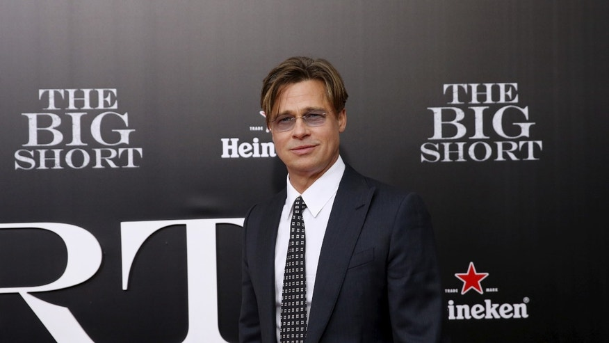 "November 23, 2015. Cast member Brad Pitt poses on the red carpet at the premiere of ""The Big Short"" in New York."