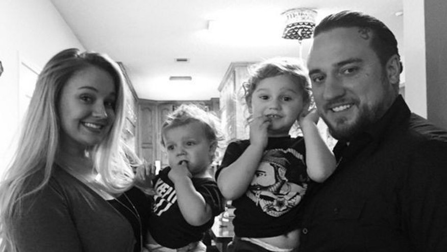Tiffany Thorton, husband Chris Carney and their two sons.