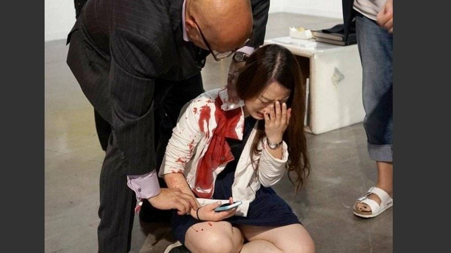 Woman stabbed at Art Basel, witnesses thought it was art