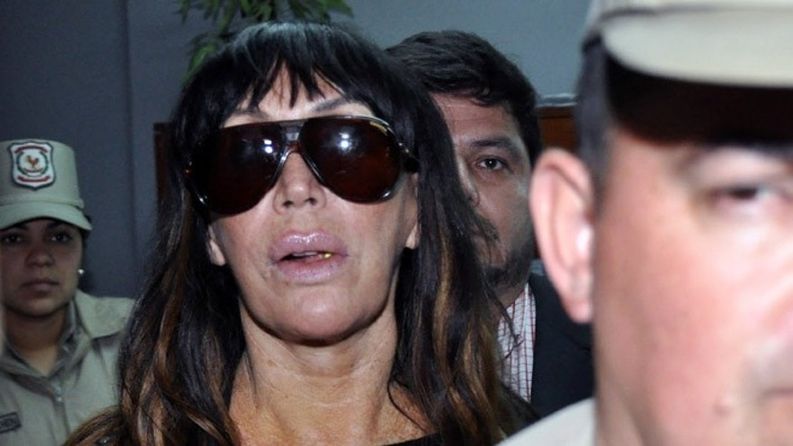 Moria Casan arrives at the Public Prosecutor's office on July 29, 2012 in Luque.