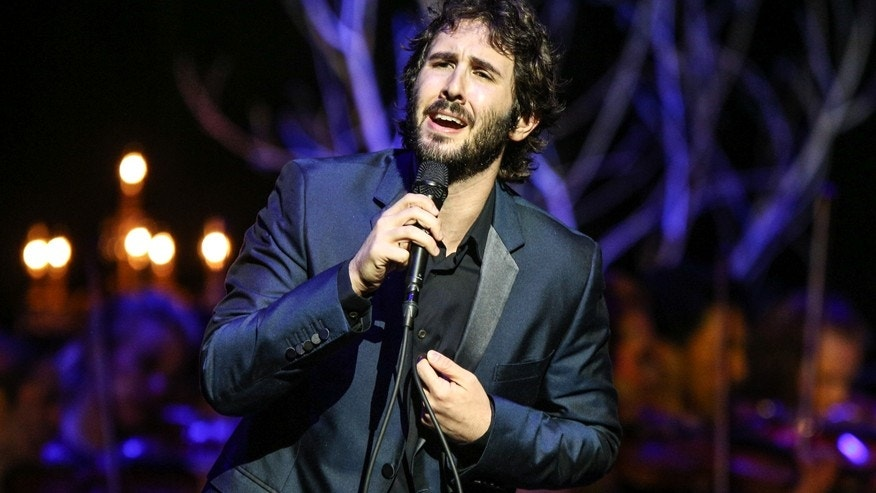 In this Oct. 29, 2015 file photo, Josh Groban performs at the Dolby Theatre in Los Angeles.
