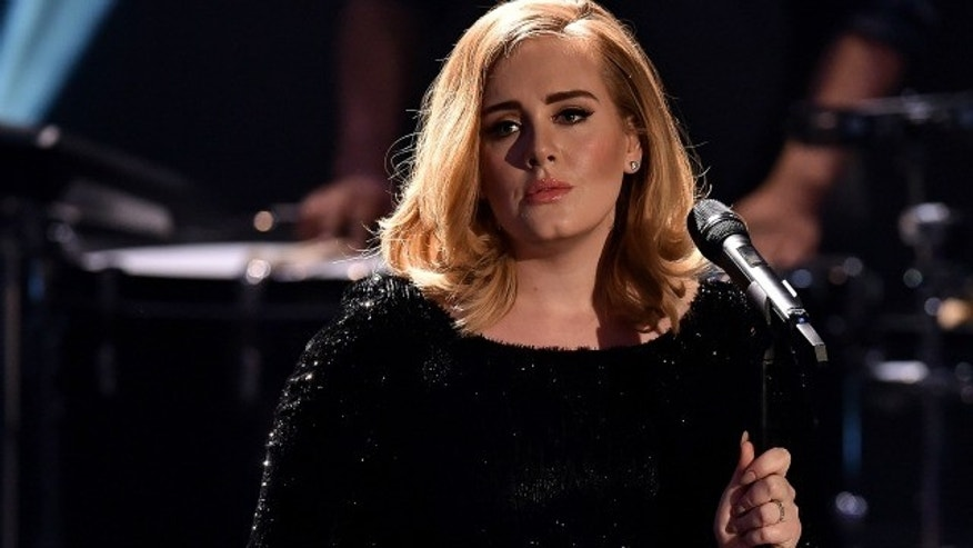 Adele in concert.