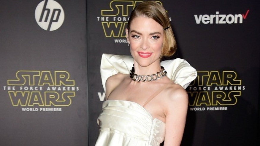 """HOLLYWOOD, CA - DECEMBER 14:  Actress Jaime King attends the premiere of Walt Disney Pictures and Lucasfilm's """"Star Wars: The Force Awakens"""" on December 14th, 2015 in Hollywood, California.  (Photo by Frazer Harrison/Getty Images)"""