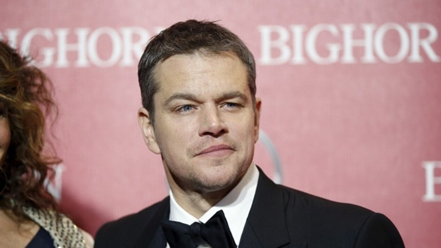 January 2, 2016. Matt Damon poses at the 27th Annual Palm Springs International Film Festival Awards Gala in Palm Springs, California.