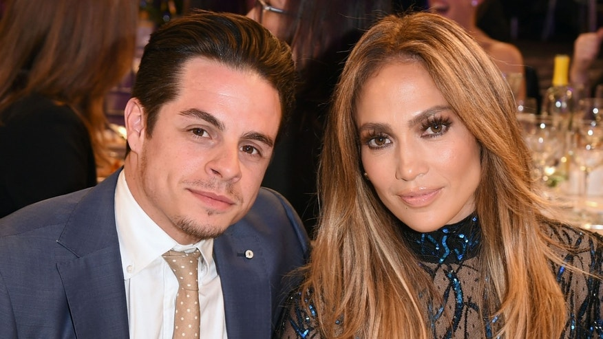 Jennifer Lopez and Casper Smart at GLAAD Media Awards on April 12, 2014 in L.A.