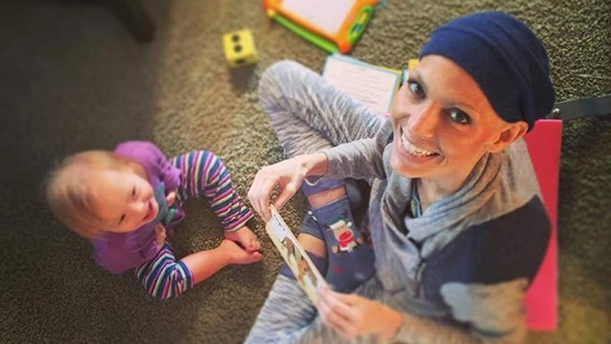 Joey Feek with daughter Indiana.