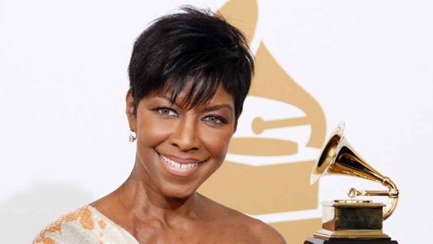 Feb. 8, 2009.  Natalie Cole holds the best instrumental arrangement accompanying vocalist award backstage at the 51st Annual Grammy Awards, in Los Angeles.