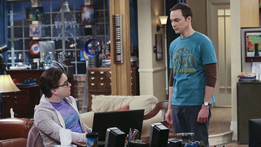 Sheldon (Jim Parsons) and Leonard (Johnny Galecki) on 'The Big Bang Theory.'