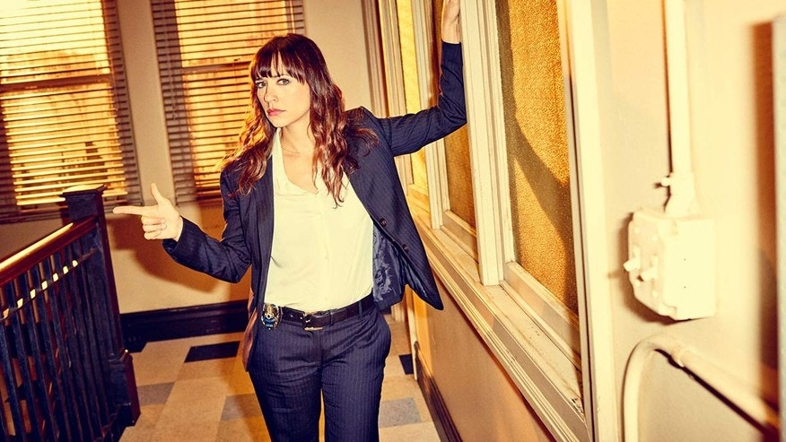 "Rashida Jones in TBS' ""Angie Tribeca."""