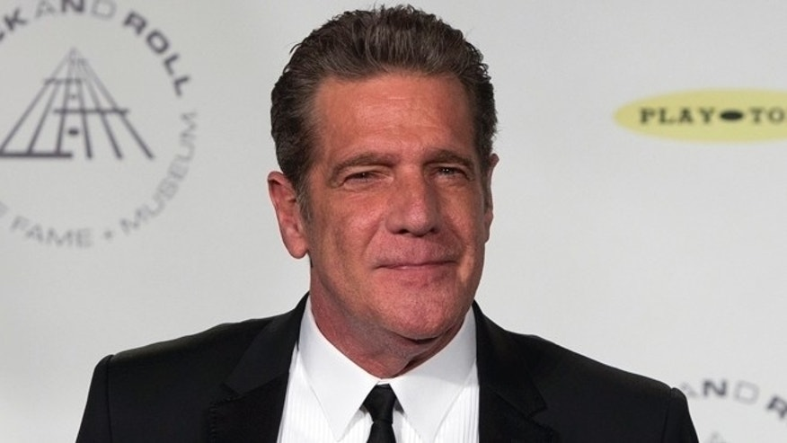 April 10, 2014: Musician Glenn Frey poses for pictures during the 29th annual Rock and Roll Hall of Fame Induction Ceremony at the Barclays Center in Brooklyn, New York.