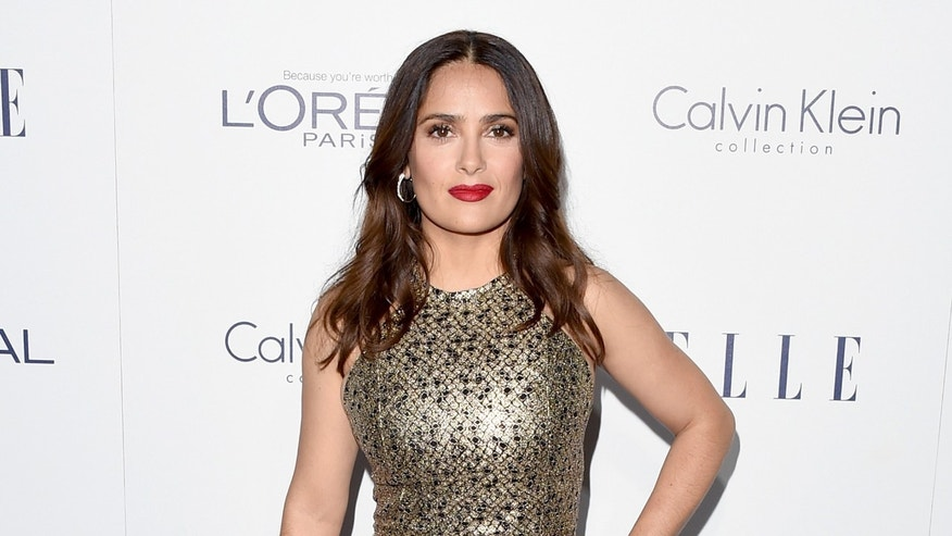 Salma Hayek at Four Seasons Hotel Los Angeles at Beverly Hills on October 19, 2015 in Los Angeles.