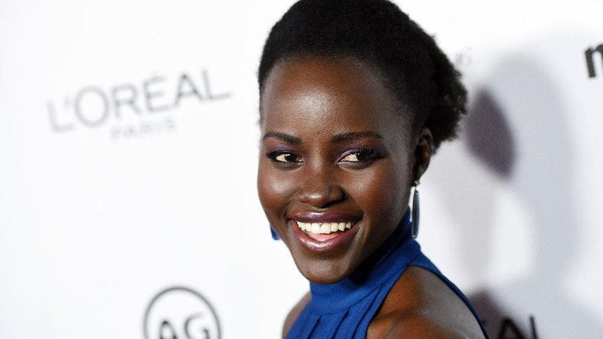 "FILE - In this Jan. 12, 2016 file photo, actress Lupita Nyong'o poses at the Marie Claire Image Maker Awards in Los Angeles. Following a second straight year of all-white acting Oscar nominees, Nyong'o said Tuesday, Jan. 19, on Instagram she was joining in ""calling for change in expanding the stories that are told and recognition of the people who tell them."" (Photo by Chris Pizzello/Invision/AP, FIle)"