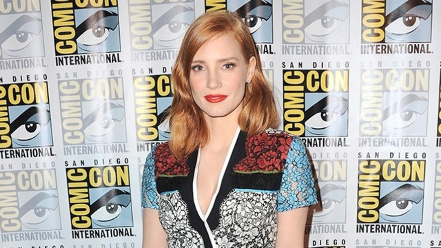 SAN DIEGO, CA - JULY 11:  Actress Jessica Chastain poses at the Legendary Pictures panel during Comic-Con International 2015 the at the San Diego Convention Center on July 11, 2015 in San Diego, California.  (Photo by Albert L. Ortega/Getty Images)