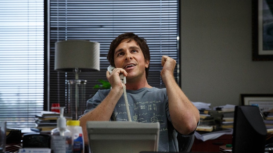 "FILE - In this file image released by Paramount Pictures, Christian Bale appears in a scene from ""The Big Short."""