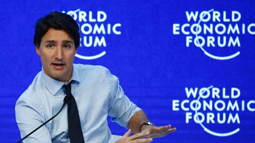 January 22, 2016. Justin Trudeau, Prime Minister of Canada attends the annual meeting of the World Economic Forum (WEF) in Davos, Switzerland.
