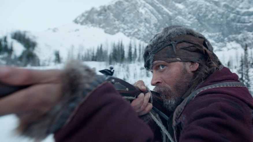 This photo provided by Twentieth Century Fox shows Tom Hardy in a scene from the film 'The Revenant'. (Twentieth Century Fox via AP)