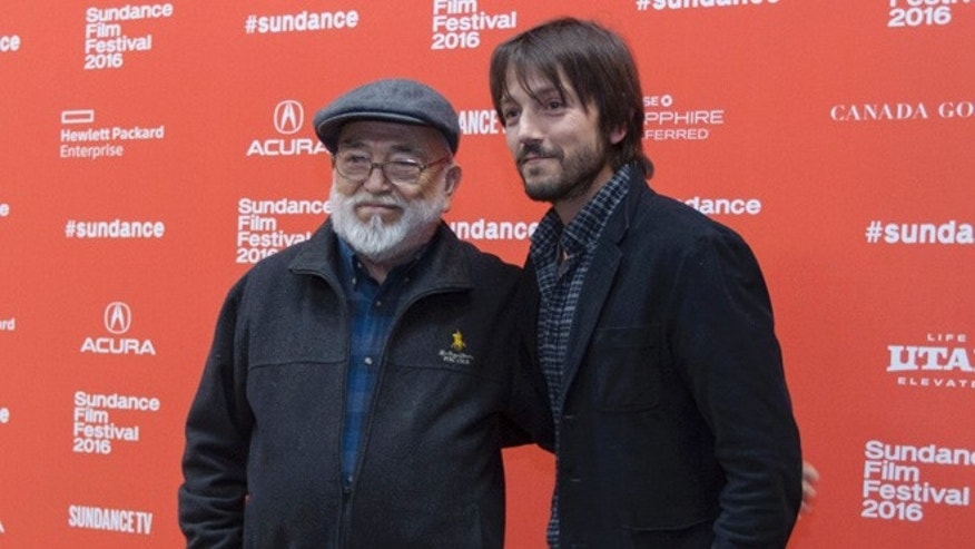 "Diego Luna and his father Alejandro Luna at the premiere of ""Mr. Pig"" at the Sundance Film Festival."