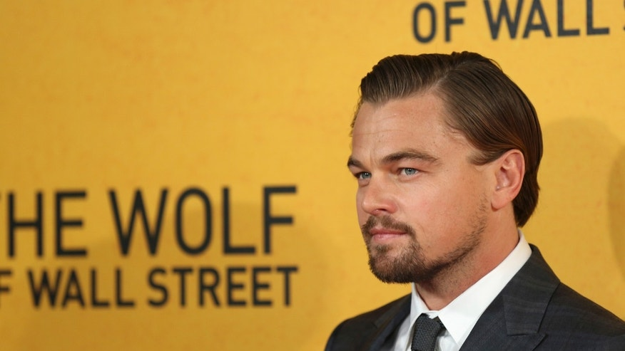"January 9, 2014. Leonardo DiCaprio arrives for the U.K. premiere of  ""The Wolf of Wall Street"" at Leicester Square, London."