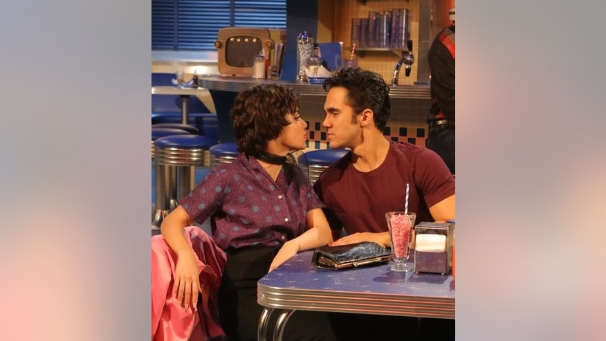 Vanessa Hudgens and Carlos PenaVega rehearse for GREASE: LIVE airing LIVE Sunday, Jan. 31, 2016 (7:00-10:00 PM ET live/PT tape-delayed), on FOX. © 2016 Fox Broadcasting CO.