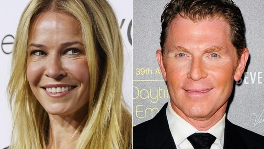 Chelsea Handler and Bobby Flay.
