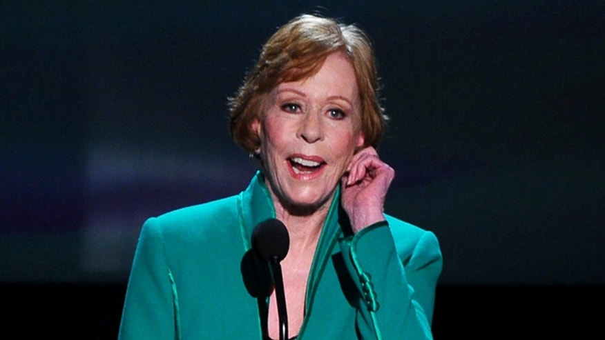 January 30, 2016. Carol Burnett tugs her ear as she accepts the Screen Actors Guild life achievement award at the 22nd annual Screen Actors Guild Awards at the Shrine Auditorium.