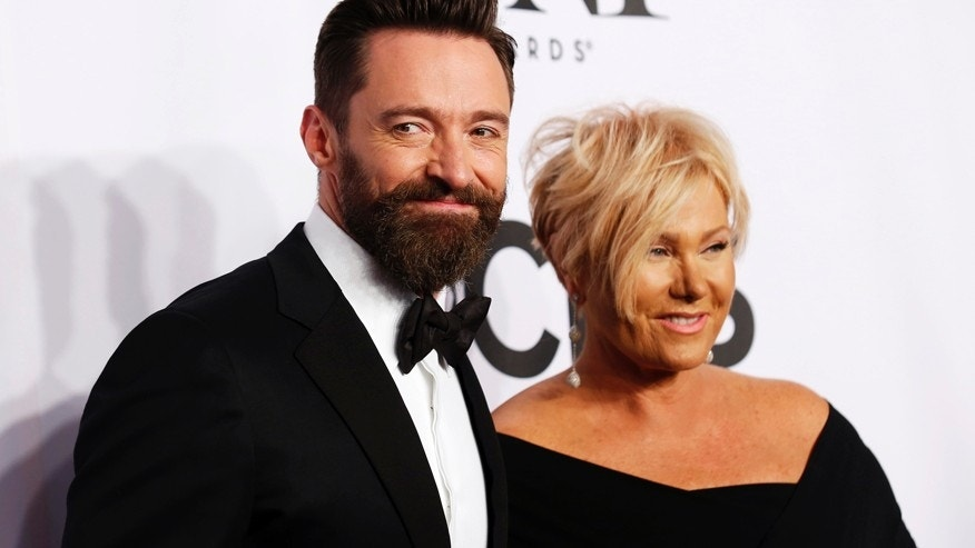 Actor Hugh Jackman and wife, Deborra-Lee Furness, arrive for the American Theatre Wing's 68th annual Tony Awards at Radio City Music Hall in New York, June 8, 2014.
