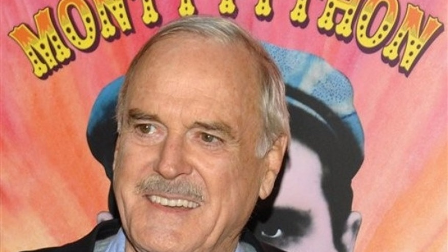 "Actor John Cleese attends the IFC and BAFTA premiere of ""Monty Python: Almost The Truth (The Lawyers Cut)"", in New York, on Thursday, Oct. 15, 2009. (AP Photo/Peter Kramer)"