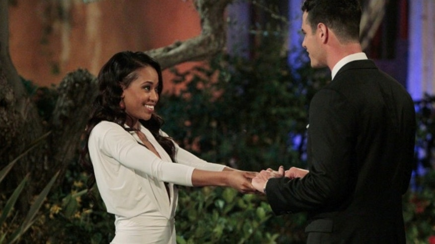 "Jubilee and Ben Higgins on ""The Bachelor."" ABC"