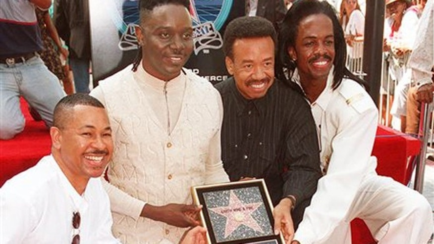 In this Sept. 14, 1995 file photo, Ralph Johnson, from left,  Phillip Bailey, Maurice White and Verdine White, of Earth, Wind & Fire  in Los Angeles.
