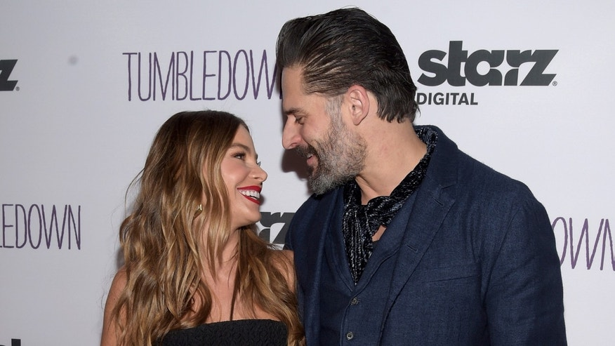 "SANTA MONICA, CA - FEBRUARY 01:  Actress Sofia Vergara (L) and actor Joe Manganiello attend the special screening of ""Tumbledown"" hosted by Starz Digital and The Cinema Society at Aero Theatre on February 1, 2016 in Santa Monica, California.  (Photo by Jason Kempin/Getty Images)"