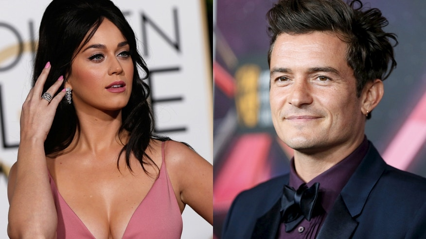 Singer Katy Perry (left) and actor Orlando Bloom.